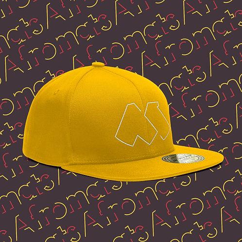 Afromats Snapback Cap, white & yellow