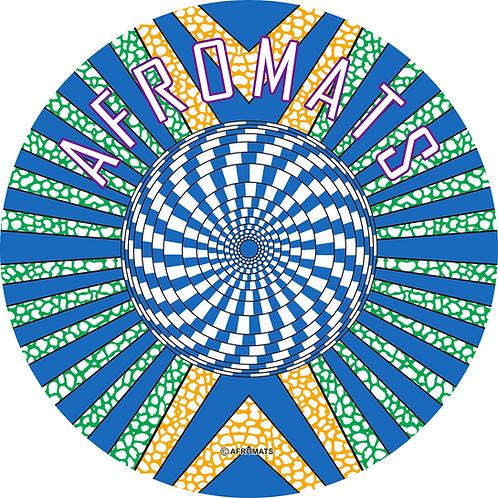 "12"" vinyl record slipmat Kaleidoscope blue"