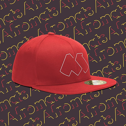 Afromats Snapback Cap, red & white