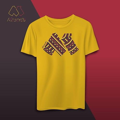 Afromats Cotton T Shirt, gold