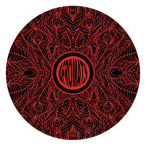 "12"" vinyl record slipmat FEATHERS red"