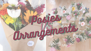 5 Things to know about Posies vs. Arrangements!