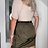 Thumbnail: Khaki Belted Parachute Utility Skirt