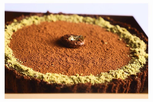 Pistachio & Chocolate Tart