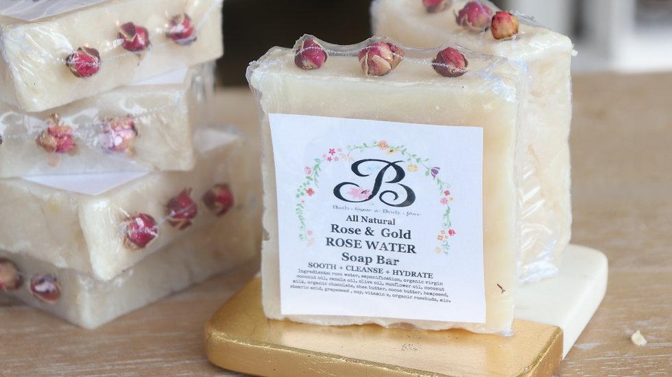 All Natural Rose Water Soap Bar