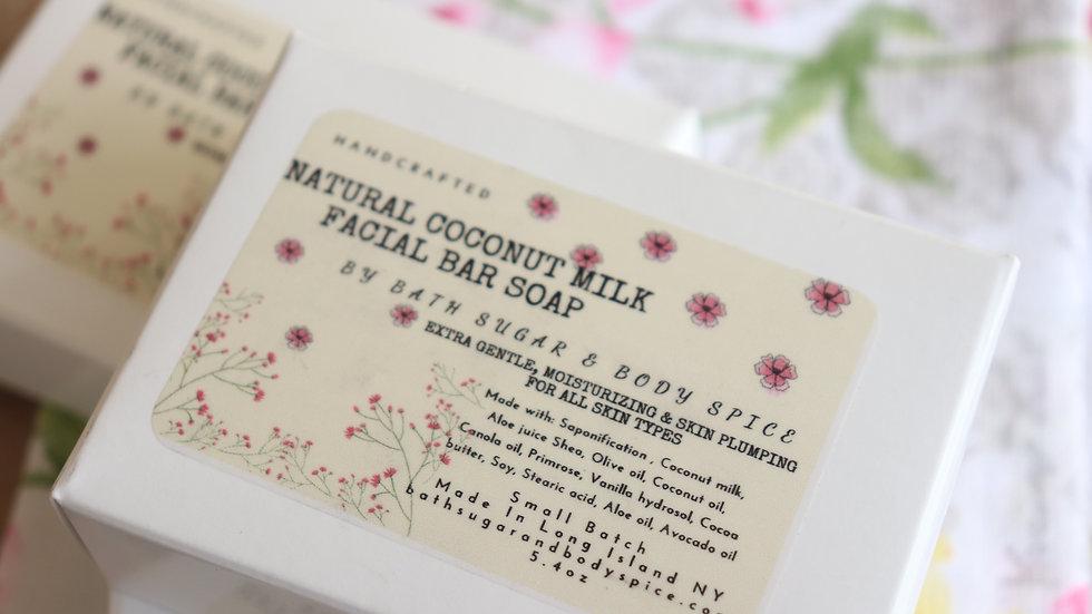 Natural Coconut Milk Facial Soap Bar