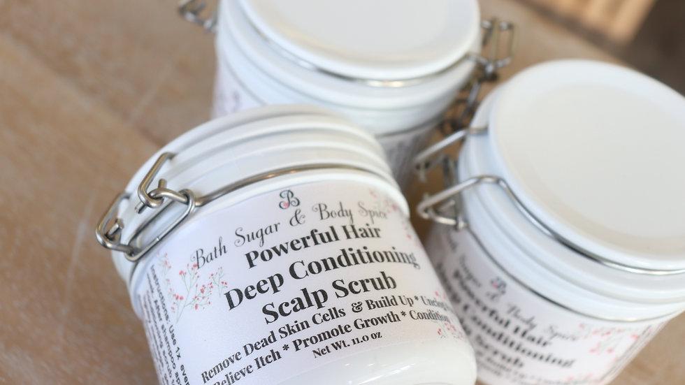 Powerful Hair Deep Conditioning Scalp Scrub