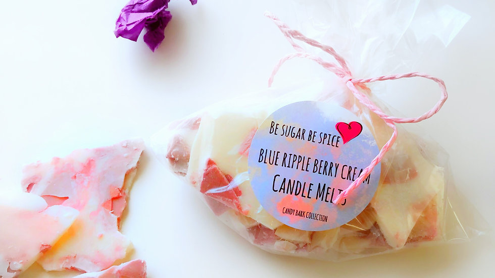 Purple Ripple Berry Cream Candle Candy Melts