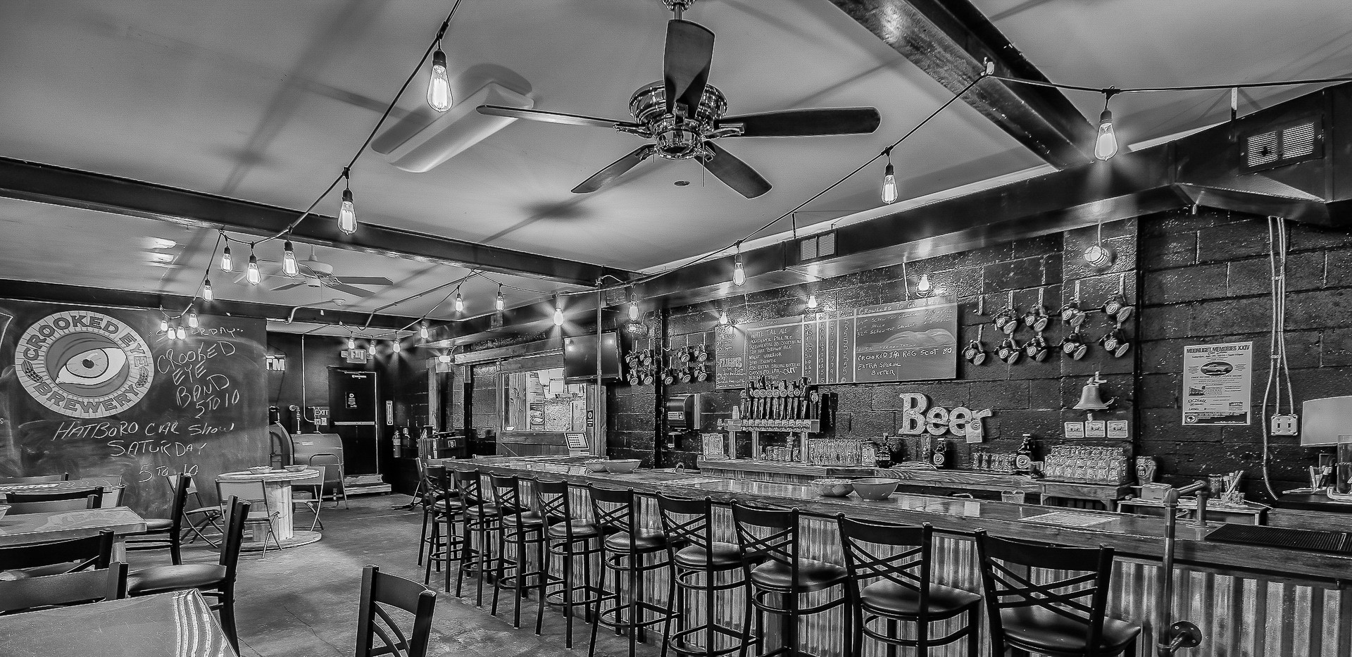 Brewery Bar Black and White