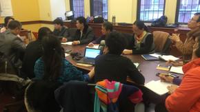 教育访问团访问哥伦比亚大学教育学院