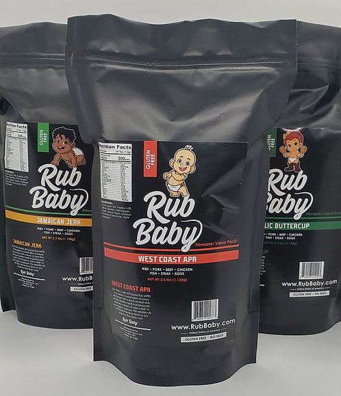 Dry Rub 3 Pack - 2.5 Pounds (40 ounces) - Free Shipping