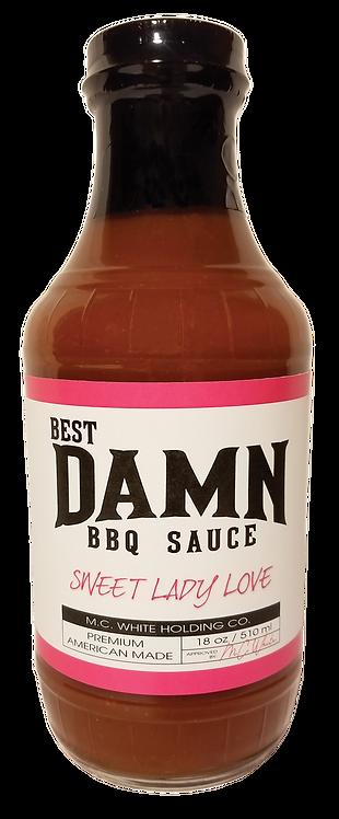 4 Pack - Best Damn BBQ Sauce - Sweet Lady Love - 20 OZ