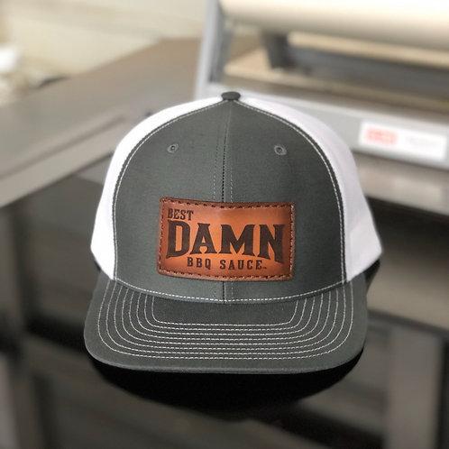 Grey with White Mesh Richardson Snap Back Hat