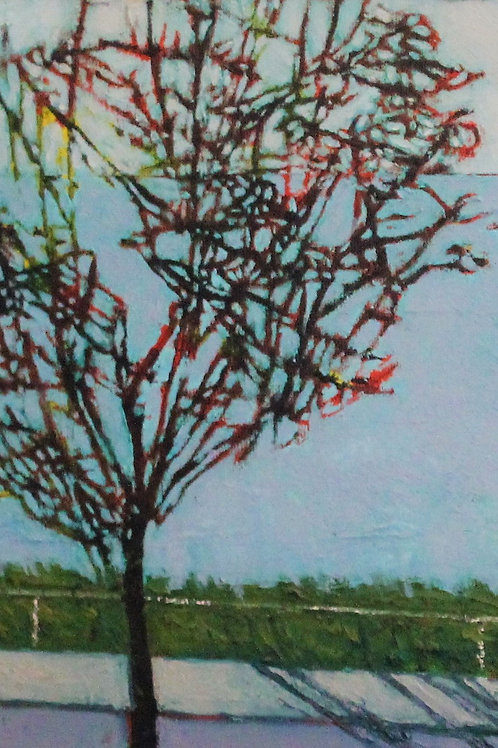 """Birds in a Tree on Deluxe Paper  22"""" x 15"""""""