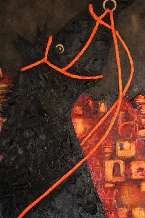 """Dark Horse on Deluxe Paper 26"""" x 17"""""""