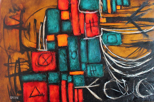 """Cipher on Stretched Canvas 24"""" x 36"""""""
