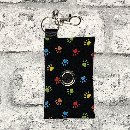 Multicoloured Paw prints Poo Bag Dispenser