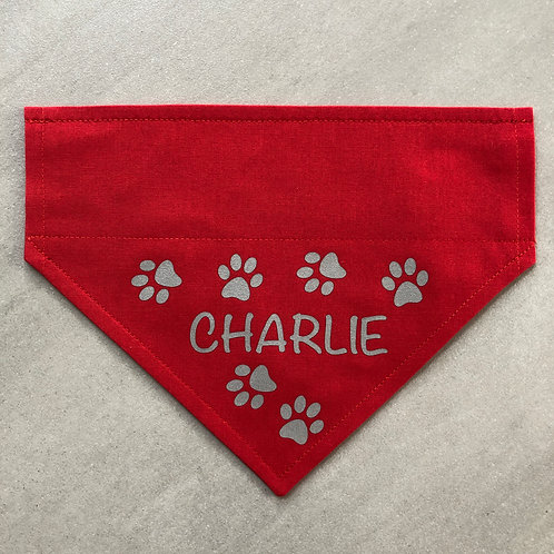 Personalised Reflective Paw Prints