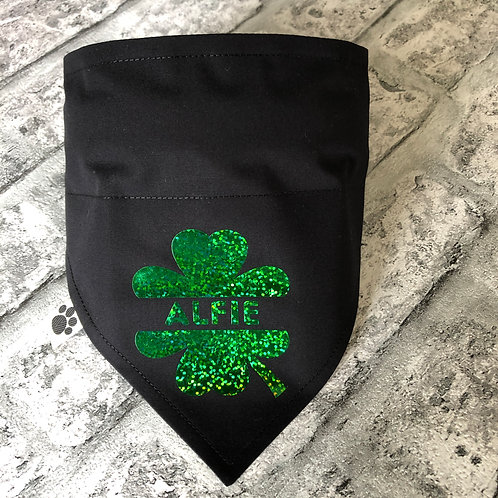 Personalised Irish Shamrock Bandana