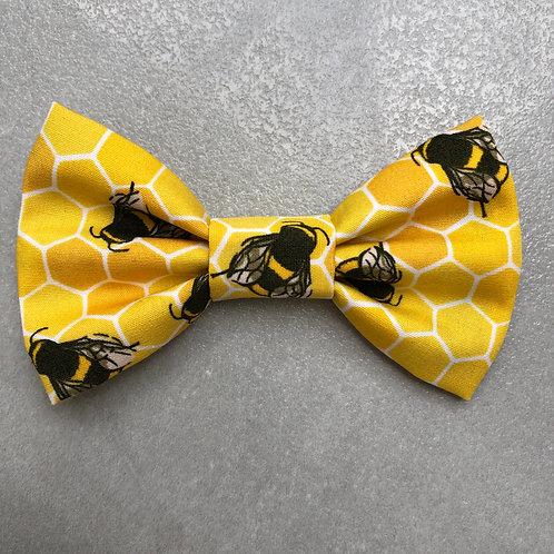 Honeycomb Bees Bow Tie