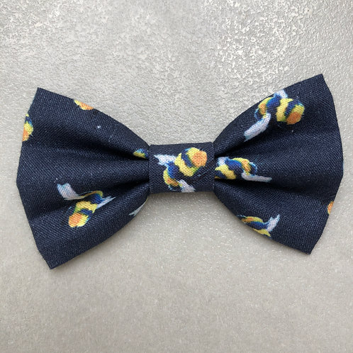 Navy Bees Bow Tie