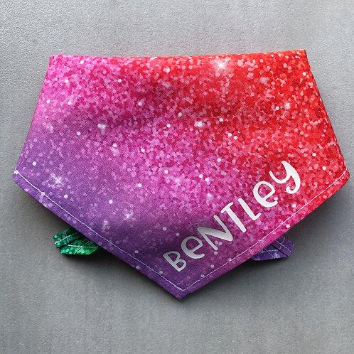 Personalised Glitter 'Look' Rainbow Bandana