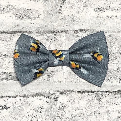 Grey Bees Bow Tie