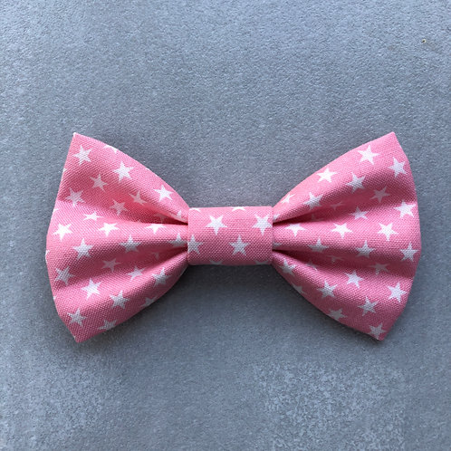 Baby Pink Stars Bow