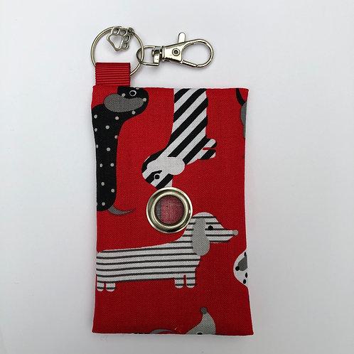 Red Dachshund Poo Bag Dispenser