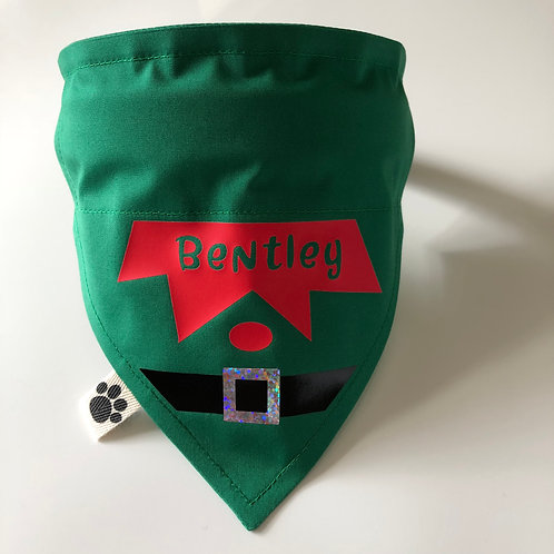 Santa's Elf Personalised Bandana