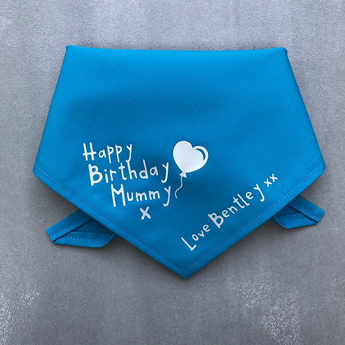 Happy Birthday Mummy Love (your name of choice)