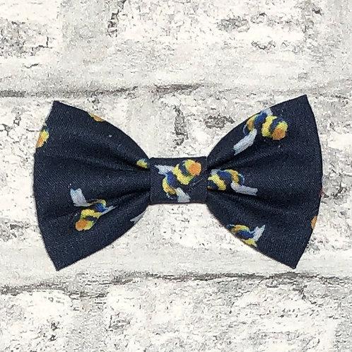 Navy Bees Bow Tie