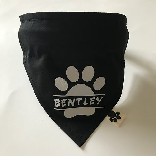 Personalised Reflective Paw Print