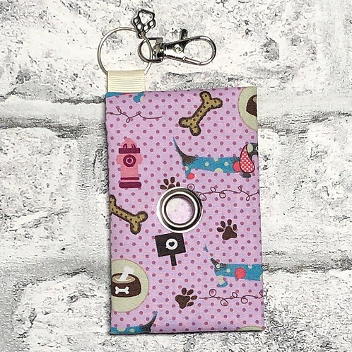 Lilac Dog Theme Poo Bag Dispenser