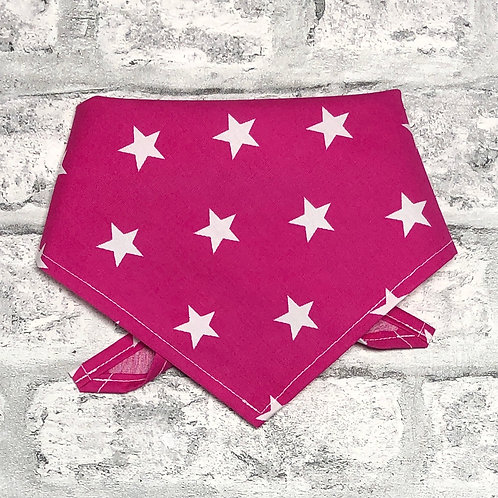 2cm Stars on Pink