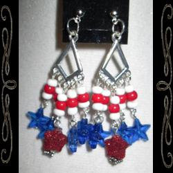 Red, White & Blue Forever Earrings
