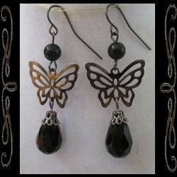 Gothic Faery Wings Earrings