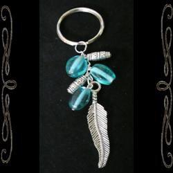 Tribal Feather Keychain
