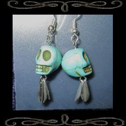Blue Bones Earrings
