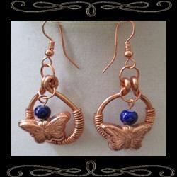 Butterfly Coil Earrings