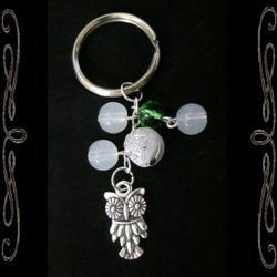 Snow Owl Keychain