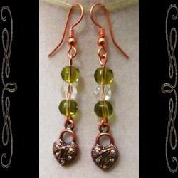 Unlocked Heart Earrings