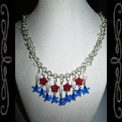 Red, White & Blue Forever Necklace