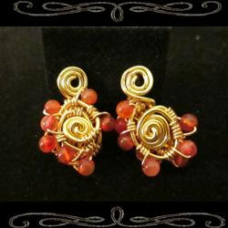 Star Spiral Earrings