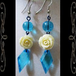 Glass Rose Earrings