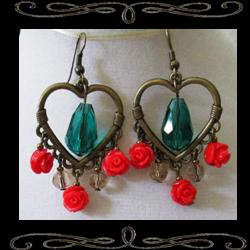 Victoriana Heart Earrings