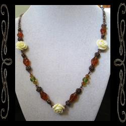 Amber Rose Necklace