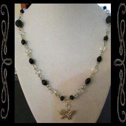 Noir Butterfly Necklace