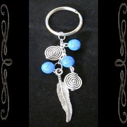Southwest Feather Spirit Keychain