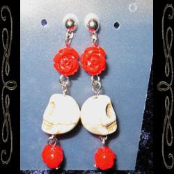 La Santa Muerte Bones Earrings